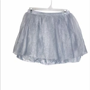 Crazy eight silver skirt girls size 14 flare